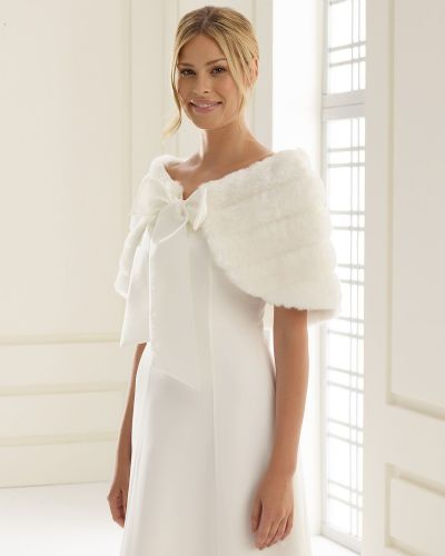 Faux Fur Bridal Wrap, Wedding Shrug, Wrap